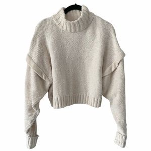 Urban Outfitters Cream Chenille Knit Sweater small